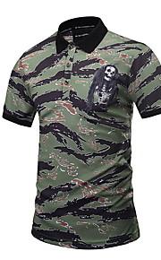 Heren Polo camouflage Leger Groen XL