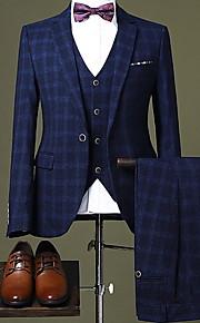 Hombre trajes Cuello Camisero Poliéster Azul Piscina / Negro / Azul Marino XL / XXL / XXXL