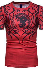 Herrn Gestreift T-shirt Druck Schwarz XL