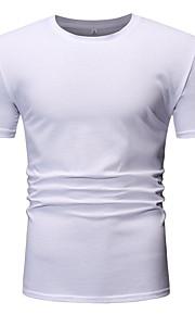 T-skjorte Herre - Ensfarget Kakifarget L