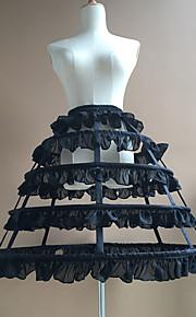 nevěsta 50. léta Kostým Klasická a tradiční lolita Dámské Spodnička Krinolína Bílá / Černá Retro Cosplay Bavlna Párty Výkon Princess
