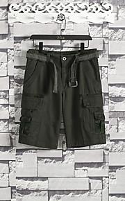 Hombre Deportivo Chinos / Shorts Pantalones - Estampado Negro