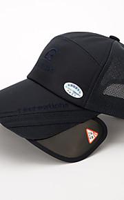 Unisex Algodón Poliéster Gorra de Béisbol Sombrero para el sol-Básico Un Color Todas las Temporadas Azul Marino Gris Azul Real