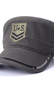Unisex Party Základní Cute Style Kšiltovka Sluneční klobouk-Jednobarevné Barevné bloky Bavlna Celý rok Černá Duhová Armádní zelená