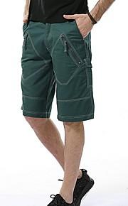 Hombre Básico Shorts Pantalones - Un Color Verde Ejército