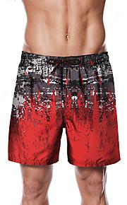 Herre Sporty / Basale Chinos / Shorts Bukser - Multi Farve / Mønstret Sort
