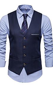 Herrn Weste, Solide V-Ausschnitt Polyester Marineblau / Grau / Wein XL / XXL / XXXL