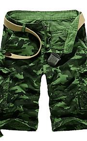 Hombre Básico Shorts Pantalones - Estampado Fucsia