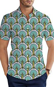 Skjorte Herre - 3D Grunnleggende Grønn XXL