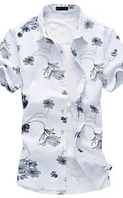 Skjorte Herre - Blomstret Chinoiserie Blå XXXXL