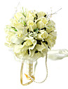 Wedding Flowers Round Roses Bouquets Wedding Party/ Evening Silk Yellow