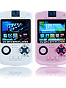 2,4 tums spel mp4-spelare med digital kamera (2GB, vit / rosa)