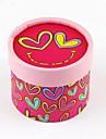 ronde geschenkdoos met hart-print (set van 12)