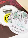deschizator de sticle / frigider magnet personalizat - floare verde (set de 12)