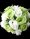 """Flori de Nuntă Rotund Trandafiri Buchete Nuntă Petrecere / Seară Satin Verde 9.84""""(Approx.25cm)"""