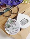sticle personalizate de deschidere / breloc - floare verde (set de 12)