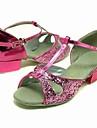 spumante de sclipici superioare roz dans pantofi sală de bal pantofi latină pentru copii mai multe culori