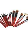 Ensemble de Pinceaux de Maquillage Professionnels dans Pochette en Cuir (18 Pieces)