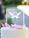 Vârfuri de Tort Personalizat Cuplu Clasic / Inimi Cristal Petrecerea Bridal Shower / Aniversare / Nuntă Temă Grădină / Temă ClasicăCutie