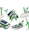 6 In 1 Robot Coches de juguete Juguetes de energia solar Alimentado por Energia Solar El plastico ABS Chico Chica Juguet Regalo
