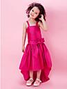 A-line printesa genunchi lungime floare fata rochie - taffeta curele fără mâneci cu panglica de lan ting bride®