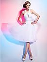 Linia -A Prințesă Halter Lungime Genunchi Șifon Petrecere Cocktail Rochie cu Mărgele Drapat Ruching Pliuri de TS Couture®