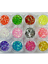 12pcs Glitter & Poudre Sequins Decoration Kits Classic Lovely High Quality Daily
