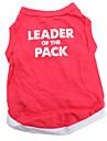 Hund T-shirt Hundkläder Andningsfunktion Djur Hjärtan Röd Kostym För husdjur
