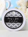 tag-ul favorizat personalizat - imprimare florală neagră (set de 36) favoruri de nunta