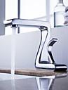 Robinet de salle de bain Sprinkle®  ,  Art Déco/Rétro  with  Chrome 1 poignée 1 trou  ,  Fonctionnalité  for Centerset