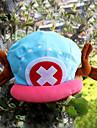 Hatt / Mössa Inspirerad av One Piece Tony Tony Chopper Animé Cosplay-tillbehör Cap / Hatt Sammet Herr Ny Halloweenkostymer