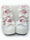 PU piele 7,5 cm cu toc dulci pantofi lolita cu arcul