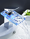 Contemporary  with  Chrome Single Handle One Hole  ,  Feature  for Waterfall Centerset LED