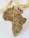 Bărbați Coliere cu Pandativ Hartă Lemn Africa costum de bijuterii Bijuterii Pentru Zilnic Casual Cadouri de Crăciun