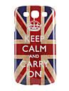 Carcasă Dură Model Steag Britanic Keep Calm and Carry On pentru Samsung Galaxy S3 I9300 (Multicolor)