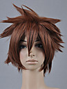 Kingdom Hearts Sora Men\'s 12 inch Heat Resistant Fiber Anime Cosplay Wigs