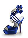 satin Stiletto platforma toc cu pantofi de flori din satin de nunta femei partidului