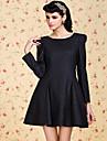 ts vintage fluga tillbaka tweed swing klänning