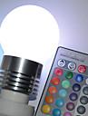 450 lm E26/E27 Ampoules Globe LED G45 5 diodes électroluminescentes LED Haute Puissance Commandée à Distance RVB CA 100-240V
