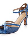 balsal högklackade peep toe konstläder övre dansskor balsal latinska skor för kvinnor