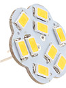 2.5 W 3000 lm G4 LED a Double Broches 9 Perles LED SMD 5630 Blanc Chaud 12 V