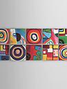oljemålningar set om 10 moderna abstrakta färg cirles handmålade duk redo att hänga