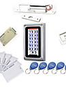Metal Vattentät Access Controller Kit (elektrisk Bolt, 10 EM-ID-kort, strömförsörjning)