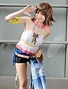 Inspirat de Final Fantasy Yuna Video Joc Costume Cosplay Costume Cosplay Peteci Manșon scurt Vestă Banderolă Accesoriu Talie Costume / Șifon