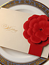 """Pliat lateral Invitatii de nunta-Invitații Stil Clasic Stil Flora Hârtie cărți de masă 7 1/5""""×5"""" (18.4*12.8cm)"""