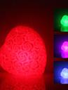a crescut în formă de inimă de lumină lampă de noapte a condus colorat (3xlr44)