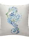 căluț de mare de imprimare nautice capacul decorativ pernă