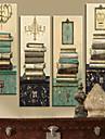 Sträckt Canvastryck vintage stilleben böcker som av 4 1301-0214
