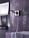 Square 8.5-inch LED Wall Mount Chrome Finish Cosmetic Mirror