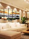 modern marinmålning väggklocka i canvas uppsättning av 5